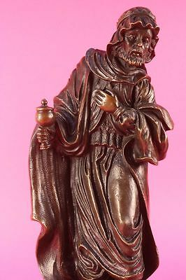 Hand Made bronze sculpture Religi Religious Church Man Wise Holly Christ