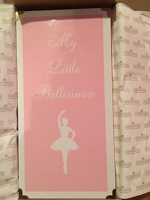 "The Ashton Drake My Little Ballerina Pink Trunk Doll Case 16"" Tall NEW W/BOX"