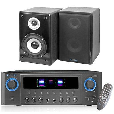 Technical Pro RX40U Receiver and Speaker Set with Remote, USB & SD Refurbished