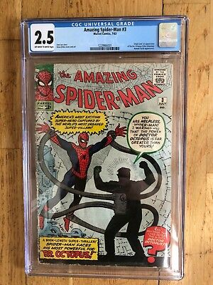 Amazing Spider-Man 3 CGC 2.5 first appearance of Doctor Octopus! Silver age key