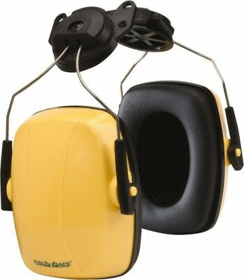 PRO-SAFE Hard Hat Cap Mounted, 23 NRR, Yellow Earmuffs Over the Head