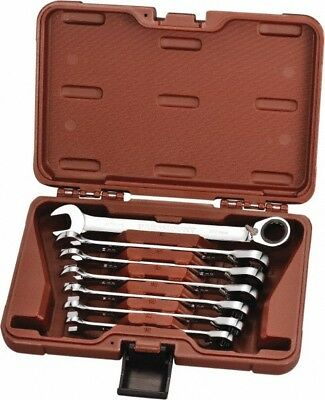 Paramount 7 Piece, 10 to 18mm, 12 Point Reversible Ratcheting Combination Wre...