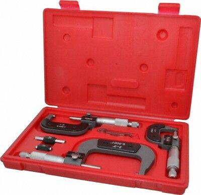 "Value Collection 0 to 3"" Range, 3 Piece Mechanical Outside Micrometer Set 0.0..."