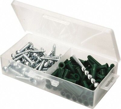 Value Collection 100 Piece, #14 to 16 Screw, Plastic & Steel Slotted/Phillips...