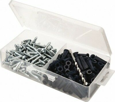 Value Collection 200 Piece, #10 to 12 Screw, Plastic & Steel Slotted/Phillips...