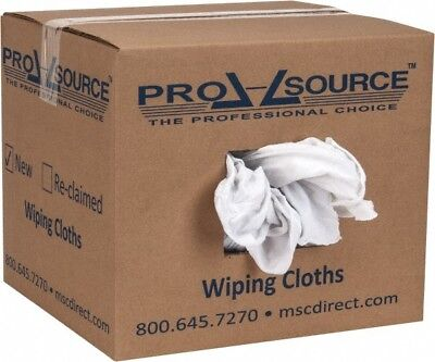 PRO-SOURCE Cotton Reclaimed Rags White, Sheeting, Lint Free, 5 Lbs. at 3 to 5...