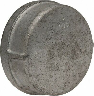 Made in USA Class 150, 3 Inch, Galvanized End Cap Threaded, Malleable Iron