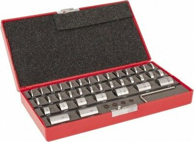"Value Collection 36 Piece, 0.05 to 1"", Spacer Block Set Round, 0.0001"" Tolerance"