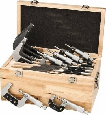 "Value Collection 0 to 6"" Range, 6 Piece Mechanical Outside Micrometer Set 0.0..."