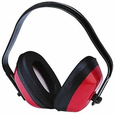 PRO-SAFE Three Position, 15 NRR, Black and Red Earmuffs Behind the Neck, Over...