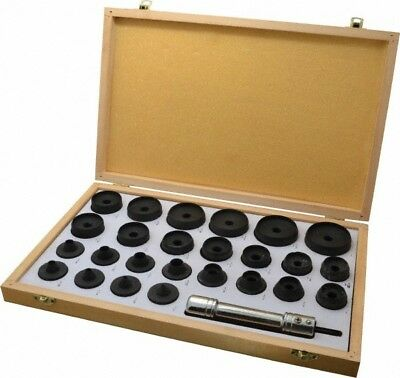 "Value Collection 26 Piece Hollow Punch Set 1/8 to 2"" Round Shank, Comes in Wo..."