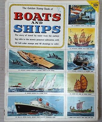 "Vintage ""GOLDEN STAMP BOOK OF BOATS & SHIPS"" – Hobbies, Collectable, Stamps"
