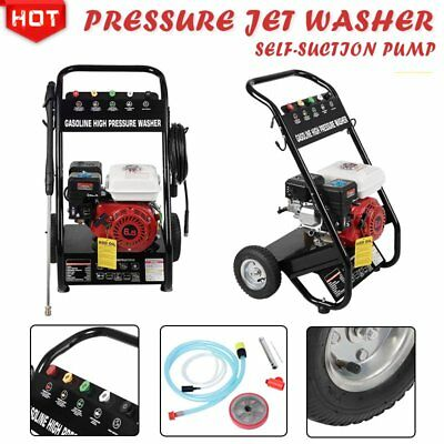 High Quality Petrol Power Pressure Jet Washer 2200psi 6.5HP OHV Engine 10m Hose