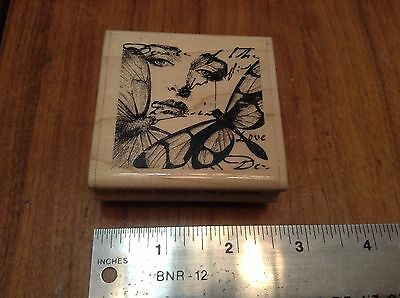 "Paper Inspirations* Dance Of The Butterflies*  ""retired"" Rubber Stamp "" Ff 7051"