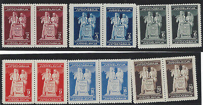 1945 (29 Nov). Meeting of Constituent Assembly. Superb MNH set - SE-TENANT PAIRS