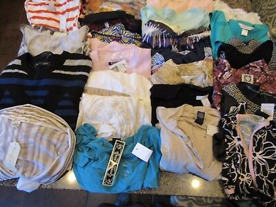 Wholesale Lot NWT Women's 25 NEW Tops All Sizes XS-XXL-1X MSRP Over $980 NICE!