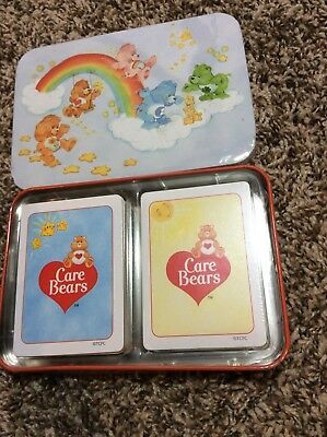 2 Decks of CARE BEARS playing cards With Tin