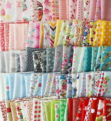 100PCS 10x10cm DIY Square Floral Cotton Fabric Patchwork Cloth For Craft Sewing