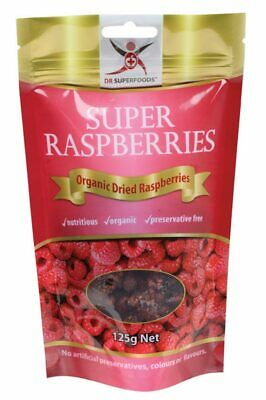 Organic Dried Raspberries 125g - Dr Superfoods
