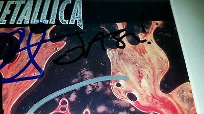 """Metallica """"LOAD"""" CD full band signed, and framed."""