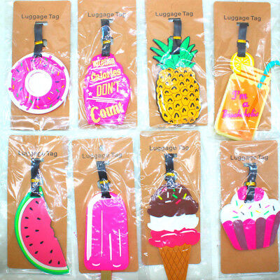 1 Pc Cute Silicone PVC Fruit Luggage Tag Travel Air Suitcase Tips Decoration
