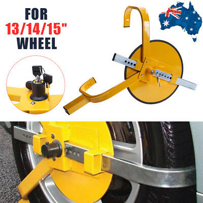 Car Trident Tyre Clamp Lock Wheel Caravan Motorhome Security Anti-Theft Devices