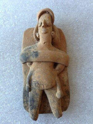 Pre-Columbian Colima Bedded Female Figure ca. 100 BC - 250 AD. FREE SHIPPING