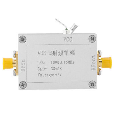 ADS-B 1090MHz RF Front-end Radio Frequency Low Noise Amplifier 38dB Gain LNA SR
