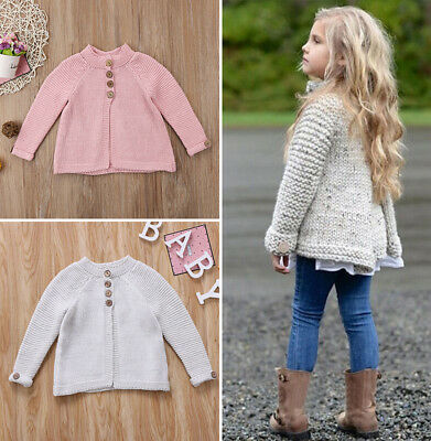 AU Stock Toddler Kids Baby Girl Cloak Sweaters Knitwear Coat Clothes Outfit 1-8T