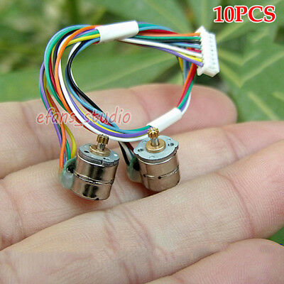 10PCS 2-Phase 4-Wire Mini 8mm Stepper Stepping Motor With 9 Teeth Copper Gear