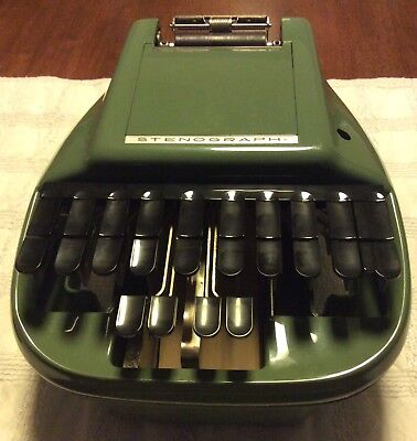 Vintage  Reporter Shorthand Machine / Stenograph Court Reporter / Very Nice