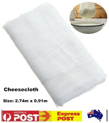 100% Cotton Cheesecloth 3 Yards Reusable Great Filter or Strainer for Cheese