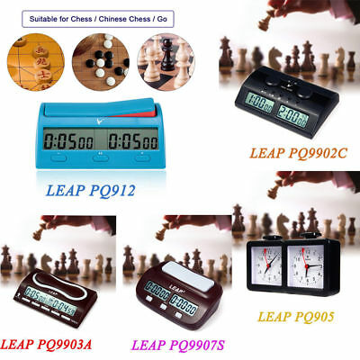 Practical LEAP Quarz Analog Chess Game Competition Clock Count Up Down Timer