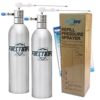 FIT TOOLS  2 Sets Aluminum Can Air / Pneumatic Refillable Pressure Sprayer -AU