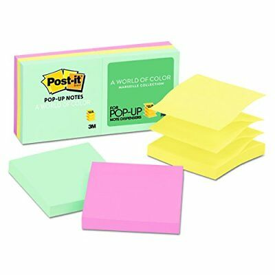 Post-it Pop-up Notes 3 in x 3 in Marseille Collection 6 Pads/Pack R330-AP