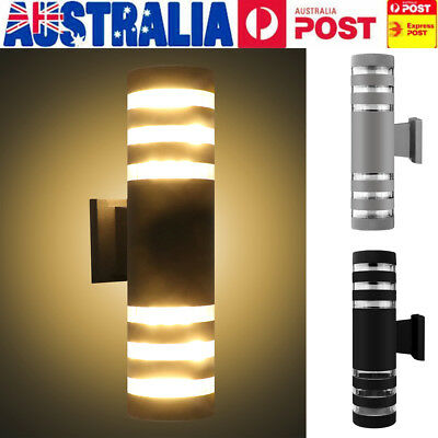 Up Down LED Wall Light Waterproof Lamp Outdoor Indoor Cylinder Cuboid E27 Socket