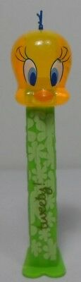 WARNER Bros VTG LOONEY TUNES 4.5'' TWEETY BIRD PEZ CANDY DISPENSER CLEAR HEAD