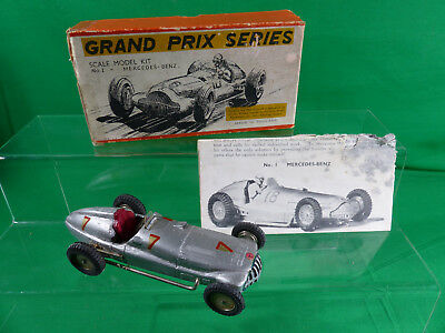 1950's Mercedes Benz Holz Modell - Made in England - SMEC - mit Box - 14cm