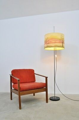50er 60er Easy Chair Sessel + Stehlampe Stehleuchte Lampe Mid Century 50s 60s