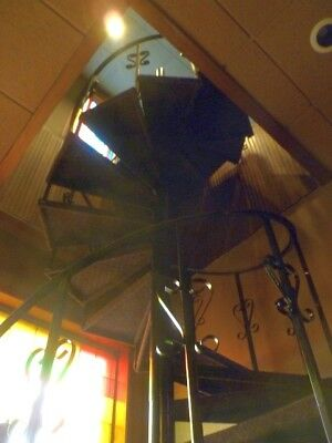 Antique Wrought Iron Spiral Staircase