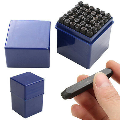 "5/32"" 4MM 36pc Number and Letter Punch Set Hardened Steel Metal Die With Case"