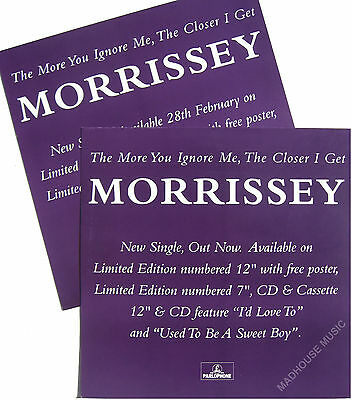 MORRISSEY DISPLAY Poster The More You Ignore Me 2-Sided In-Store PROMO ONLY UK
