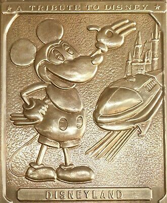 ~Vintage~ Disneyland Brass Tribute Plaque Door Push Walt Disney 1955 Opening Day