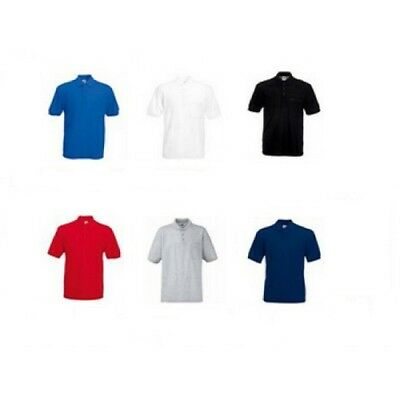 3-Pack Fruit of the Loom Men's Plain Pocket Pique Polo Shirt Short Sleeves Top
