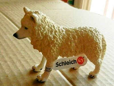 "Schleich White Wolf D-73508 New with tag 3 1/2"" x 2 1/2"""