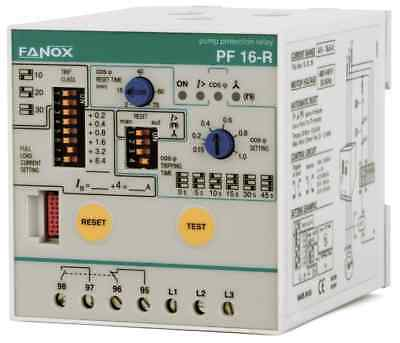 Fanox 3-Phase Pump Protection Relay WITHOUT LEVEL SENSOR, by Power Factor