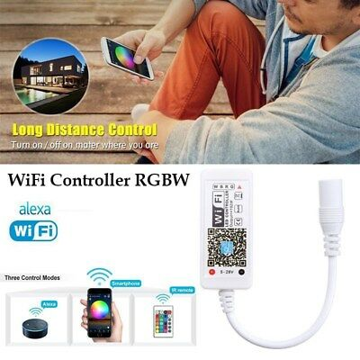 b7d26029cc9 Mini WiFi Controller MIC Music Control Remote for RGB RGBW LED Strip Light  IR
