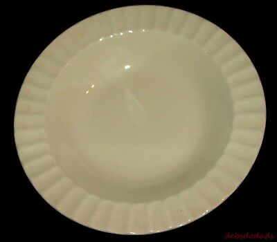 Vintage Collectible Edwin Knowles China Co Ivory Ribbed Edge Soup / Salad Bowl R