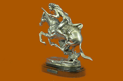 Hand Made Hot Cast 100% Real Silver Covered Bronze Cheyenne Sculpture Deal UG