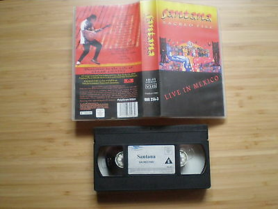 SANTANA Sacred Fire (Live In Mexico) NETHERLANDS VHS-PAL 1993